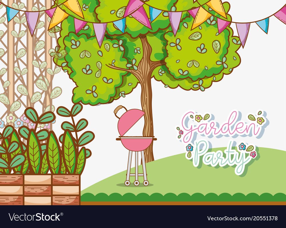 Garden party card.
