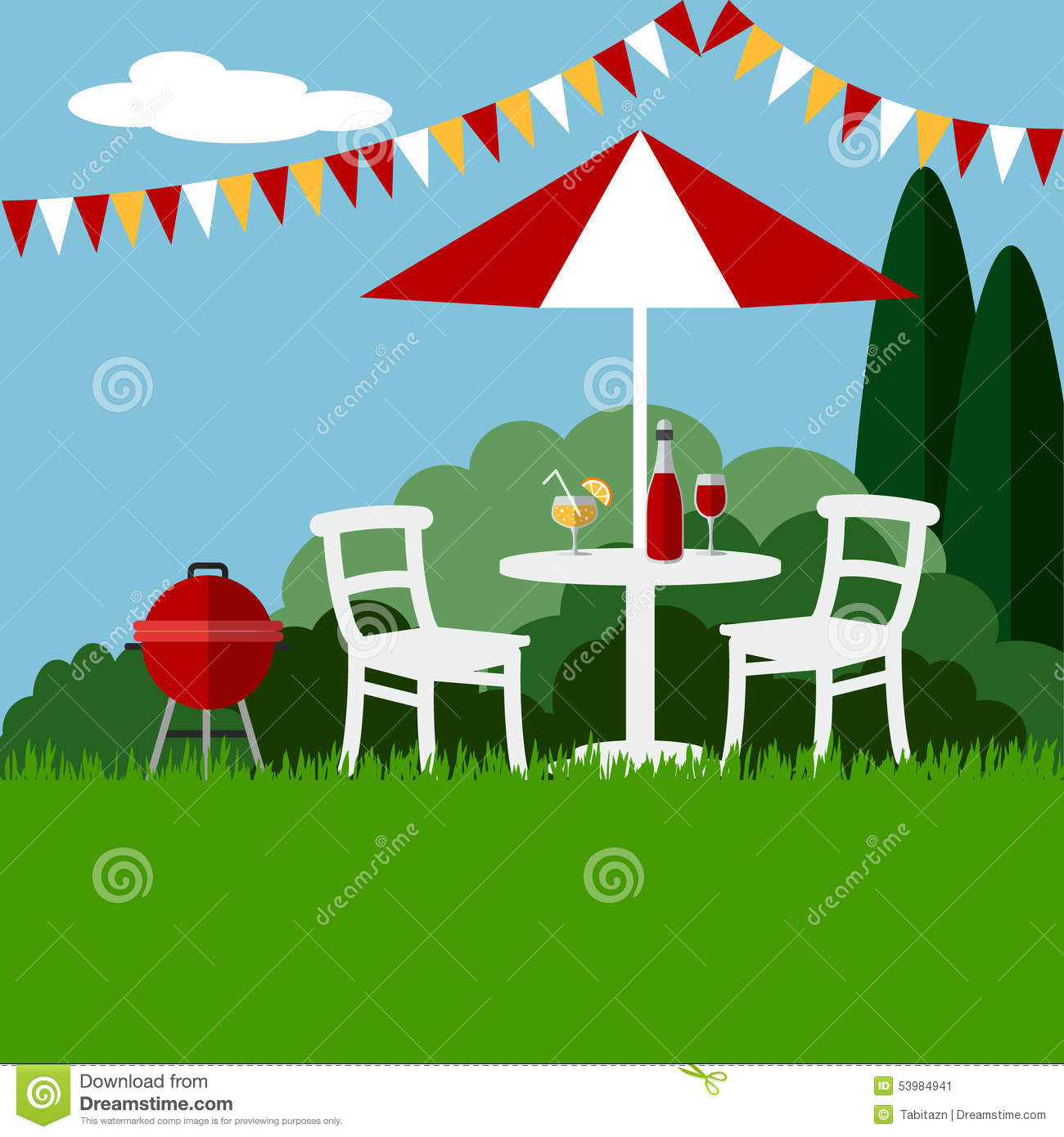 Garden Party Clipart.