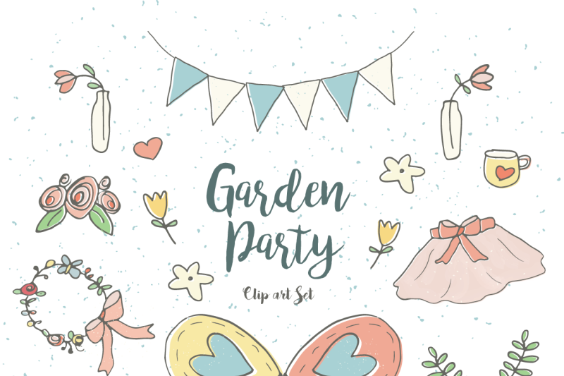 Garden Party Clip Art Set By Little Adventure Shop.
