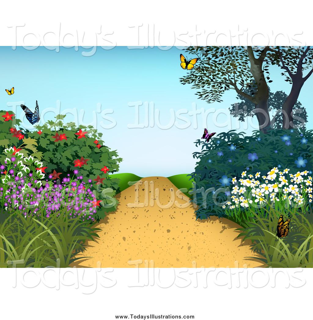 Garden Path Clipart.