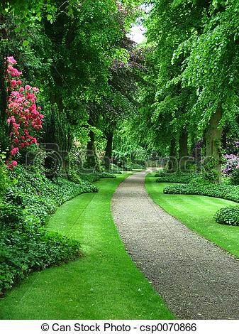 Stock Image of Garden path.