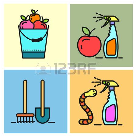 Garden, Fruit, Watering, Spraying Of Garden Pest, Garden Care.