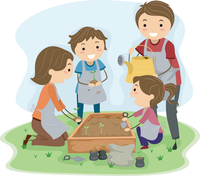 Planting Seeds Clipart.