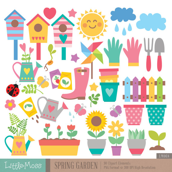 Flowering House Plant Clipart.