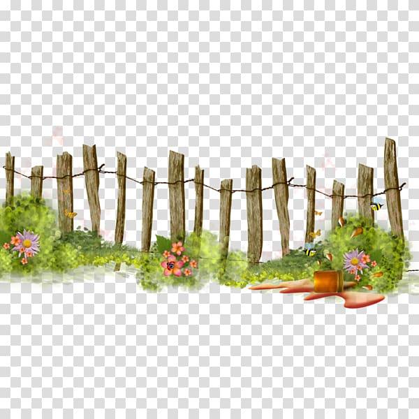 Brown wooden fence, Fence Flower garden , gardening transparent.