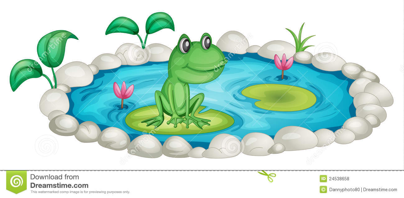 Pond clipart cute.