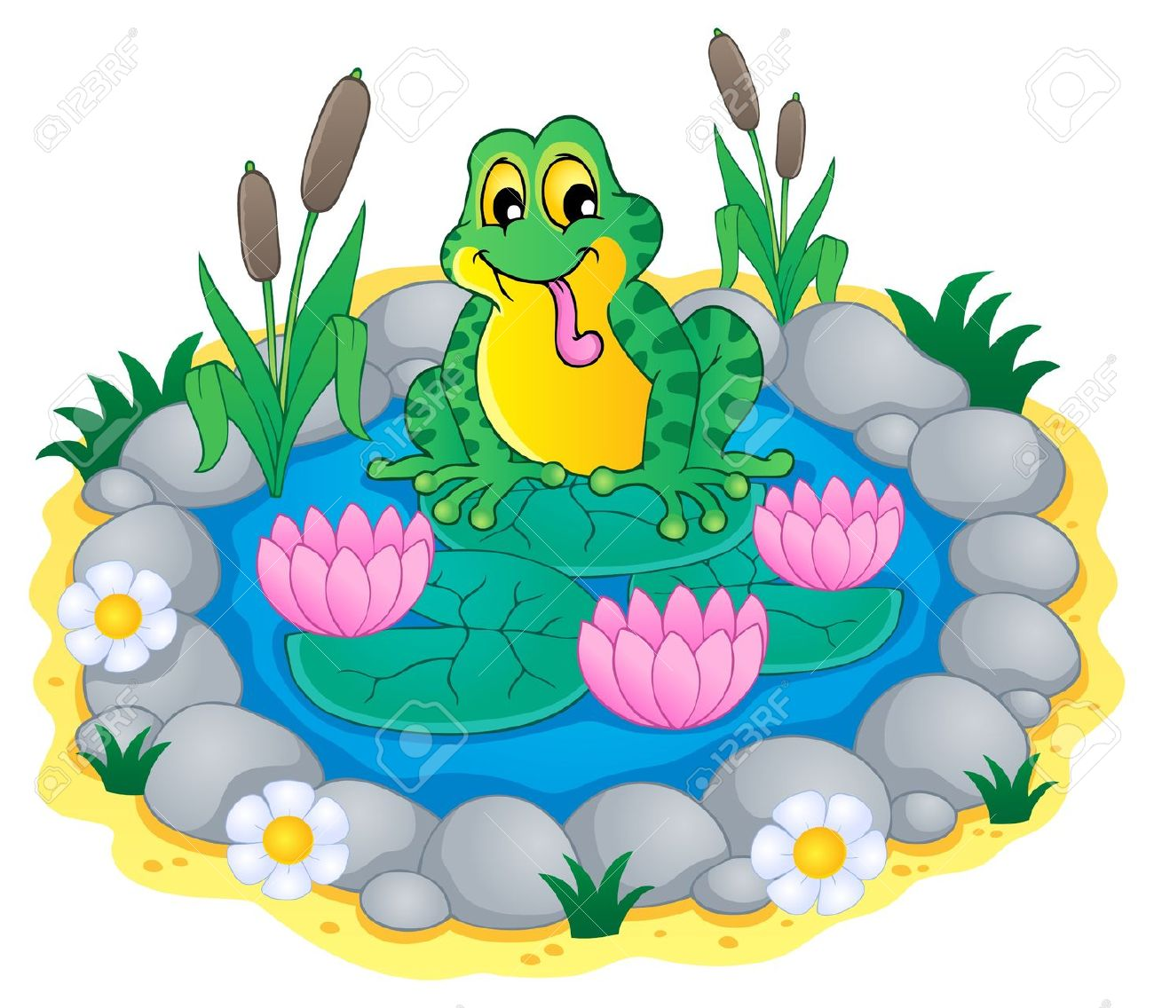 Clipart images of a pond.