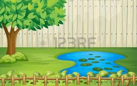 1,381 Garden Pond Cliparts, Stock Vector And Royalty Free Garden.