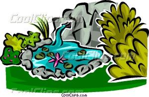 Gardne Pond Clipart.