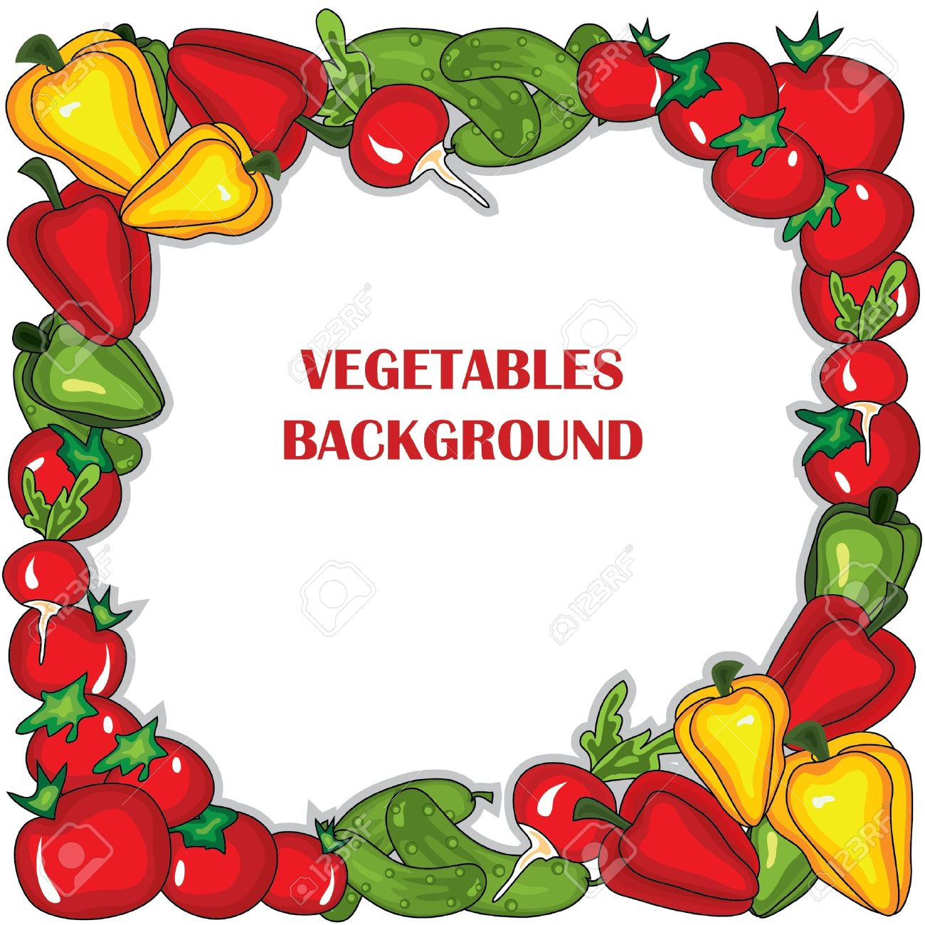 Abstract Vegetables Frame. Royalty Free Cliparts, Vectors, And.