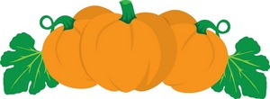 Pumpkins Clipart Image.