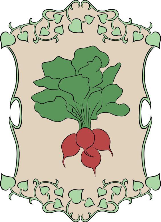 Garden Sign Radish Clipart Free.