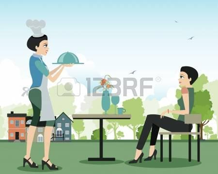 Garden Restaurant Stock Vector Illustration And Royalty Free.