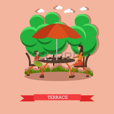 478 Garden Patio Stock Vector Illustration And Royalty Free Garden.