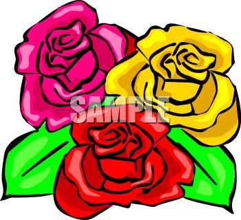Royalty Free Rose Clip art, Flower Clipart.