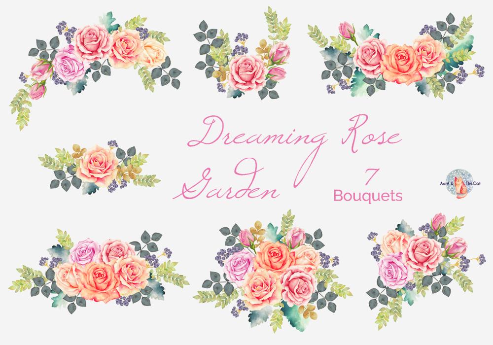 Rose garden clip art.
