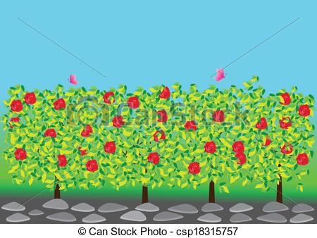 Rose Garden Clipart.