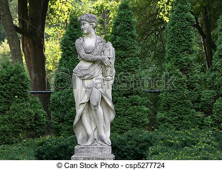 Stock Photo of Italian Garden Statue.