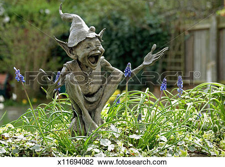 Stock Photo of UK, England, Isabel's Goblin sculpture by David.