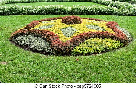 Stock Images of Abstract Shape Created With Plants in Ornamental.