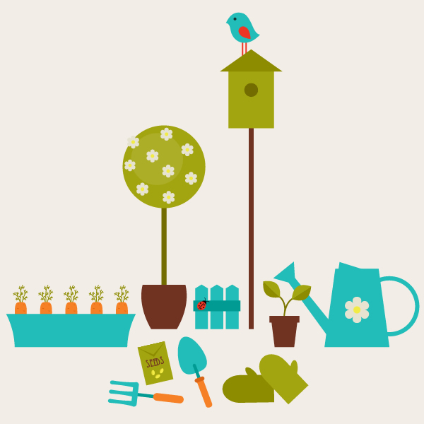 Create a Garden Scene with Basic Shapes in Adobe Illustrator.
