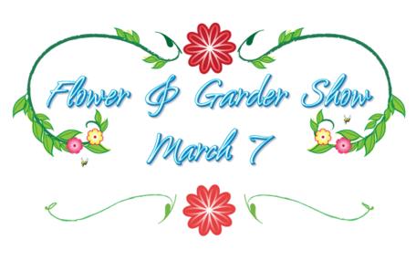Flower and Garden Show Logo, Vector Image.