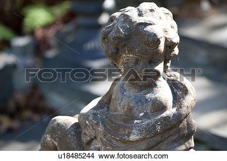 Stock Photo of Garden statue in the Hamptons u18485244.