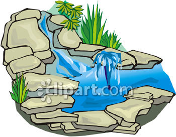 Stone Waterfall for a Garden or Yard.