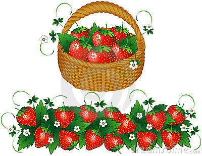 Strawberry garden clipart.