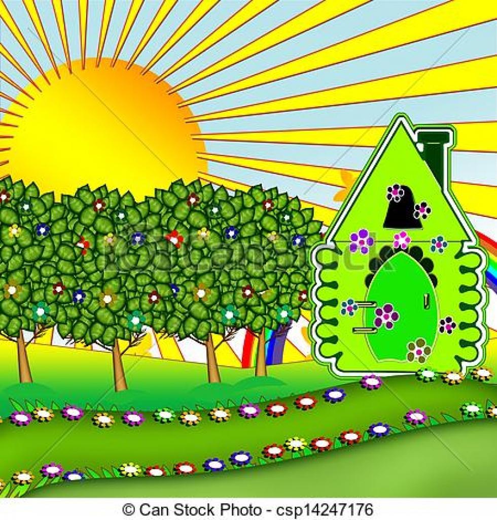 Summer garden clipart.