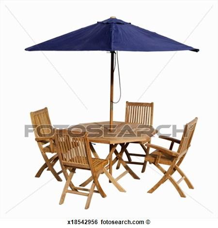 Outdoor Furniture Umbrella Clipart.