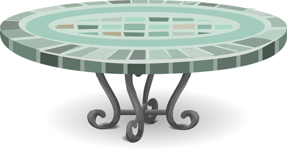 Patio Table Clipart.