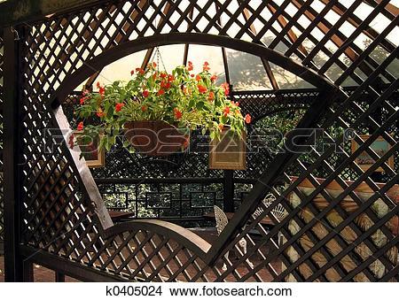 Stock Photo of Lovely Garden Terrace k0405024.