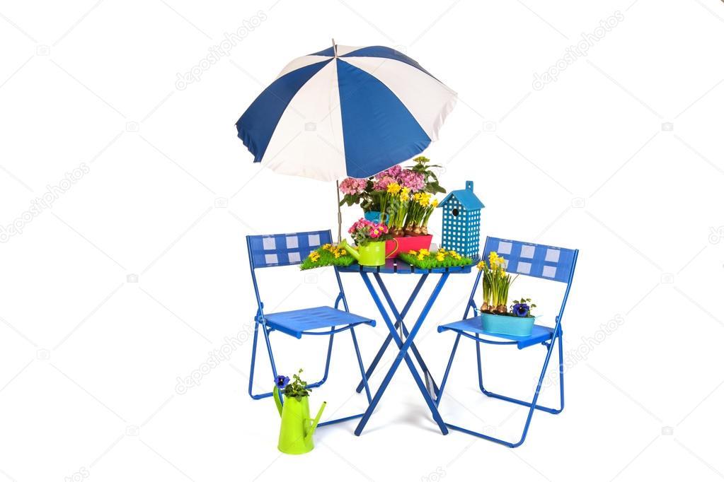 Garden terrace — Stock Photo © ivonnewierink #13472290.