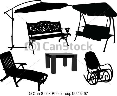 EPS Vectors of furniture for garden and terrace csp18545497.