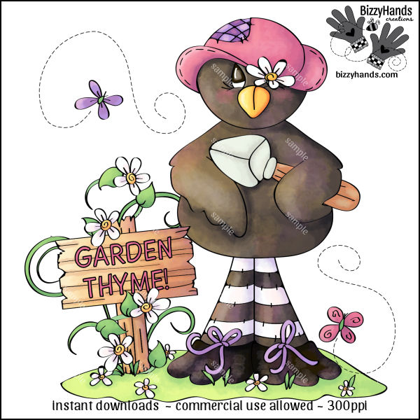 Garden Thyme 1 Clip Art Single.