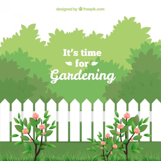 Garden Time Clipart.