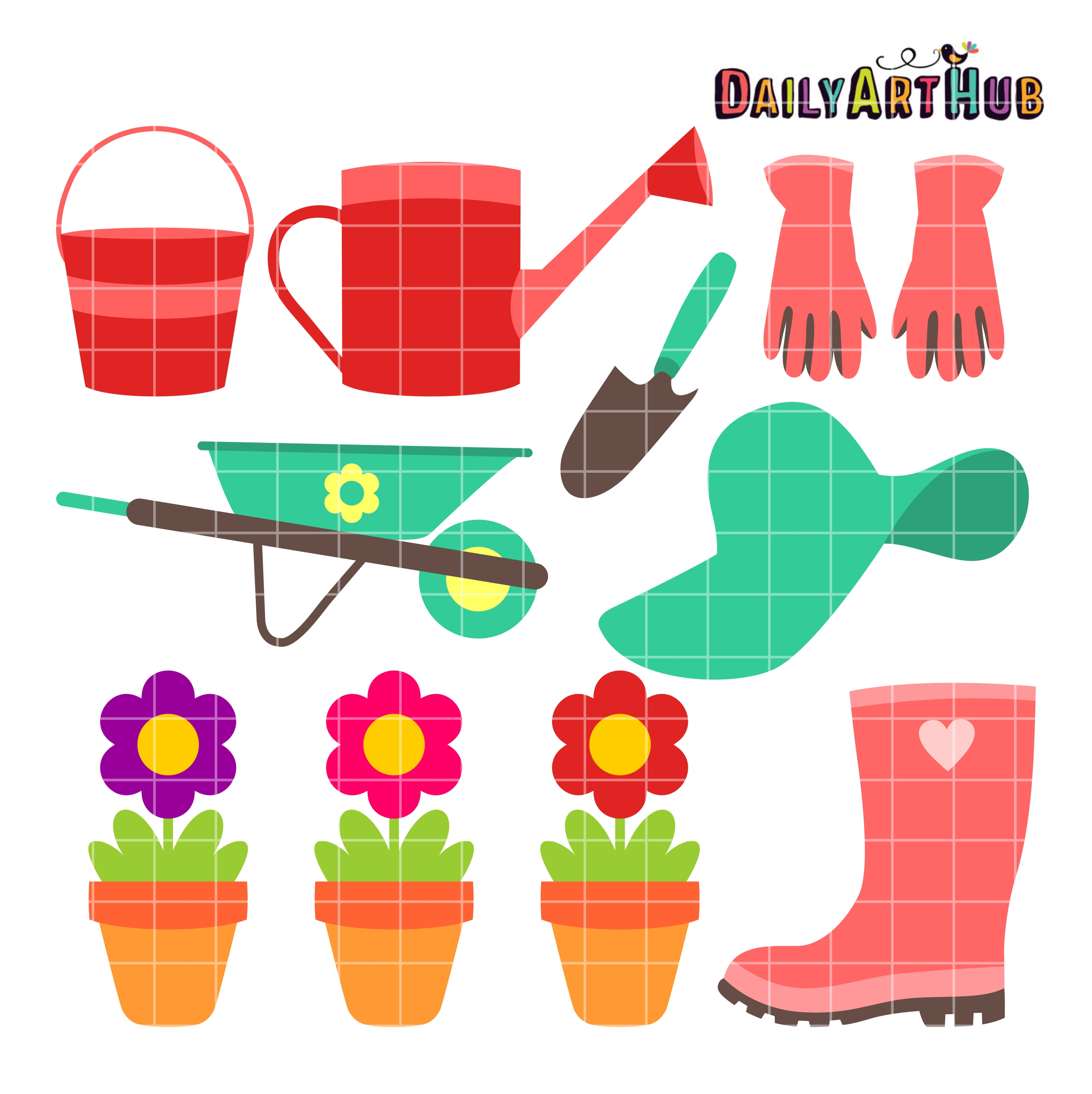 Commercial Use Clip Art Set for SVG Cuts, Scrapbooking, Embroidery.