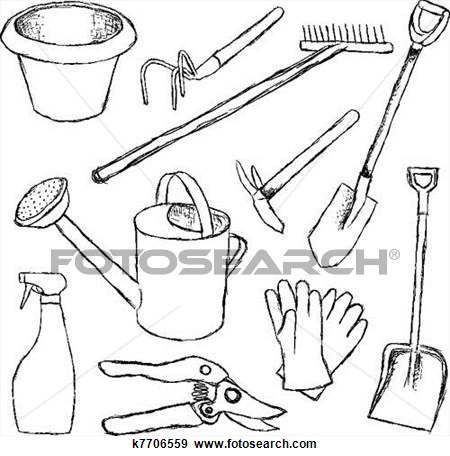 Garden Tools Free Clipart.