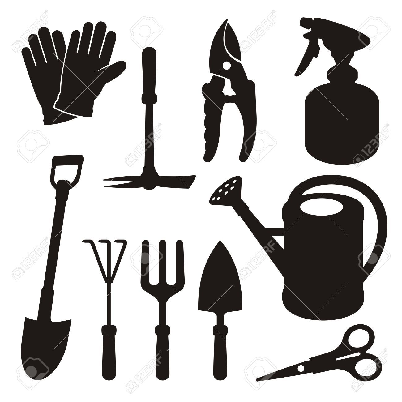 Gardening Tools Stock Illustrations, Cliparts And Royalty.
