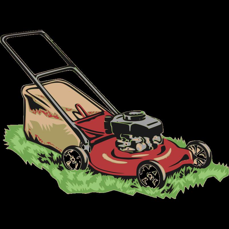 Lawnmower clipart garden tractor, Lawnmower garden tractor.