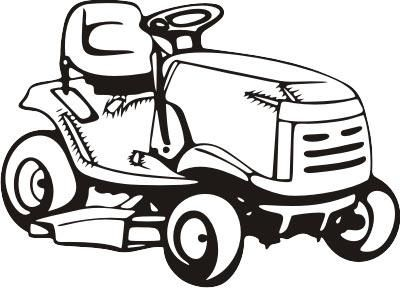 Lawn mower pink riding mower clipart.