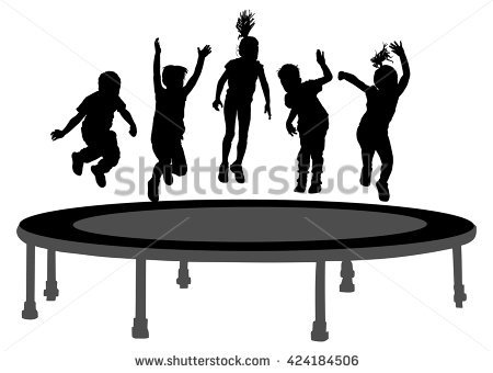 Trampoline Jumping Stock Photos, Royalty.