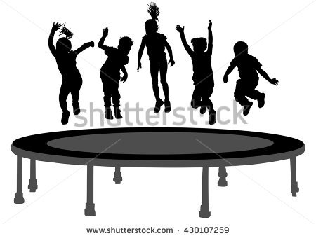 Trampoline Stock Images, Royalty.