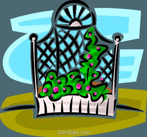 garden trellis Royalty Free Vector Clip Art illustration.