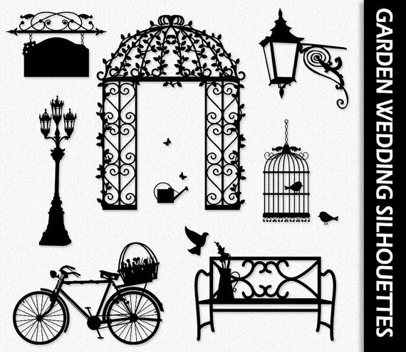 Garden Wedding Clip Art Love Clipart Graphic Scrapbook.