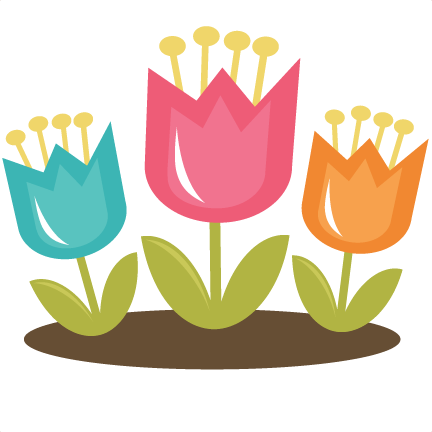 Cute tulip clipart.
