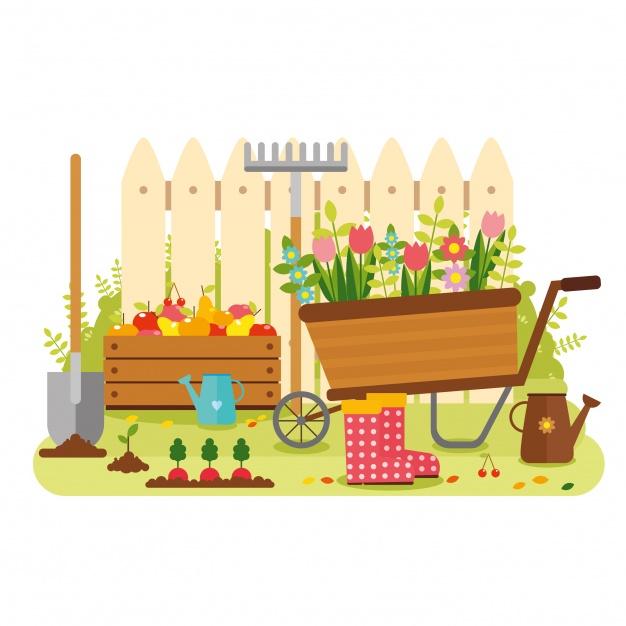 815 Vegetable Garden free clipart.