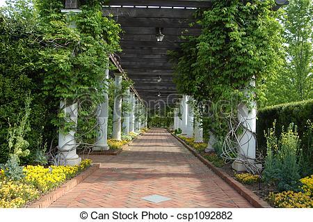 Stock Photo of Garden walk.