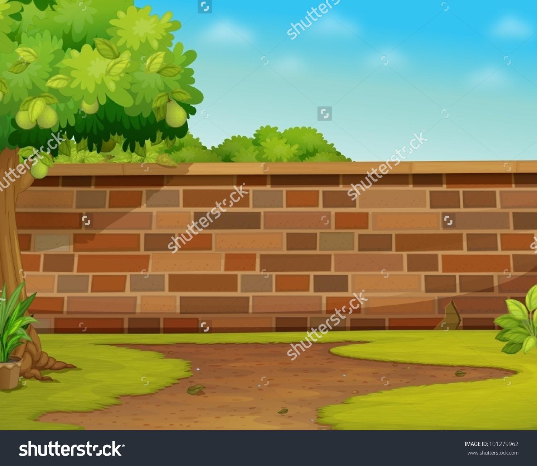 Brick Wall Clip Art: Garden Wall Clipart
